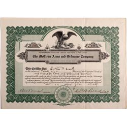 Firearms  Stock Certificate NJ - , - 1909 -