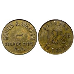 Morris A. Abraham Token NM - Silver City, - 1908 - Tokens