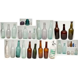 Western Bottle Assortment NV - 1890-1910 - saloon