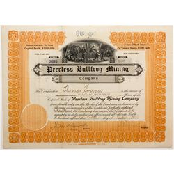 Peerless Bullfrog Mining Co. Stock NV - , - 1906 -