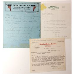 Rare Newspaper Letterheads NV - , -  -