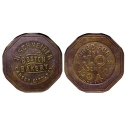 Boston Bakery NV - Carson City,Douglas - c1907 - Tokens