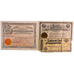 Goldfield Mining Stocks NV - Goldfield,Esmeralda County - 1906, 1907, 1910 - 2012aug - General Ameri