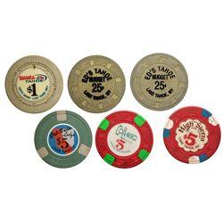 Tahoe Area Poker Chips NV - Lake Tahoe, -  -