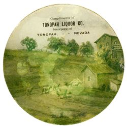 Tonopah Liquor Glass Coaster NV - Tonopah,Nye -  -