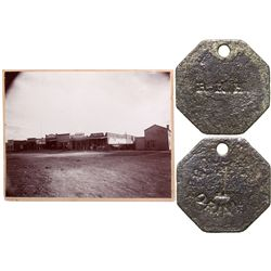 Railroad House Token and Photograph NV - Wells,Elko -  -