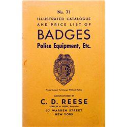 Badges, Police Equip. Catalog NY - , -  -