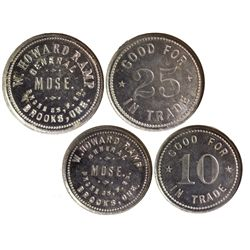 W. Howard Ramp General Store Tokens OR - Brooks,Marion County - c1915 - Tokens