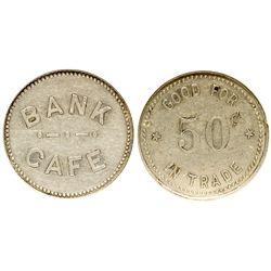 Bank Café Token OR - Manzanita,Tillamook County - c1915 - Tokens