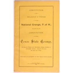 Texas State Grange Booklet TX - Galveston, - 1885 - Americana/Paper/Ephemera