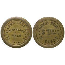 Cleveland Cash Store UT - Cleveland,Emery -  - Tokens