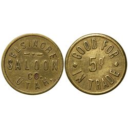 Elsinore Saloon Token UT - Elsinore,Sevier County -  -