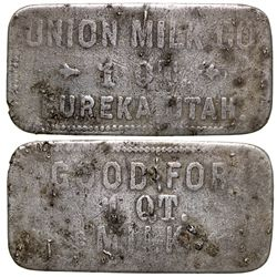 Union Milk Co. Token UT - Eureka,Tokens
