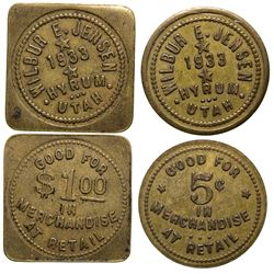 Wilbur E. Jensen Tokens UT - Hyrum,Tokens