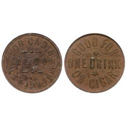 Log Cabin Saloon Token UT - Lehi,c1905 - Tokens