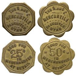 S & C Mercantile Tokens UT - Panguitch,Garfield County -  -