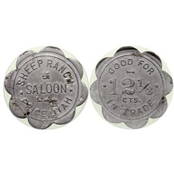 Sheep Ranch Saloon UT - Price, - 1908 - Tokens