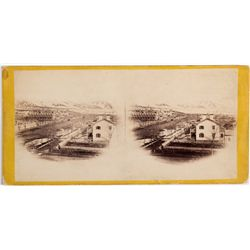 Brigham Young's Residence Stereoview UT - Salt Lake City, - c1860s -