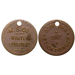 W.S. CO. UT - Winter Quarters,Carbon County - Tokens