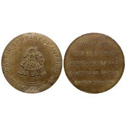 Casein Company Medal VT - Bellows Falls,