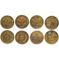 1850s Wisconsin Tokens WI - , -  -