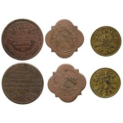 Wisconsin Token Trio WI - Maiden Rock,Pierce County -  -