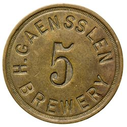 H. Gaensslen Token WY - Green River,Sweetwater County -  -