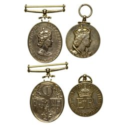 Queen Elizabeth Coronation Medals England - Tokens
