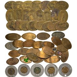 Elongated and encased cents Tokens