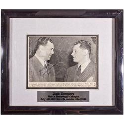 Jack Dempsey Autographed Photograph 1941 - Americana/Paper/Ephemera