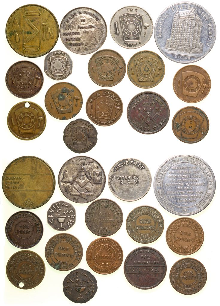 Masonic Medals Tokens