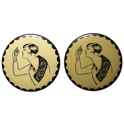 "2 ""Naughty Nellie"" Mirrors  - , -  -"