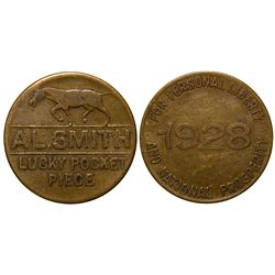 Al Smith Presidential Token  - , - 1928 -