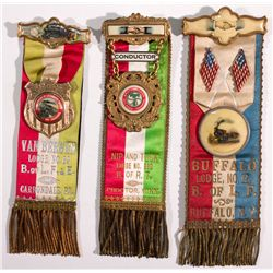 Railroad Union Parade Ribbons  - , -  -