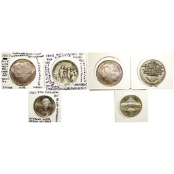 Silver Commemorative Medals  - , -  -