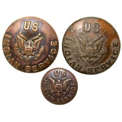 U.S. Indian Service Buttons  - , -  -