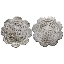 Fairview Hotel and Pool Hall Token AK - Fairbanks,1911-1932 - Tokens