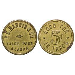 P.E. Harris & Co. Token AK - False Pass,1921-1959 - Tokens