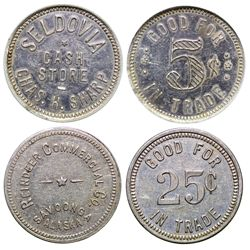 Seldovia Cash Store and Reindeer Commercial Company Tokens AK - Seldovia,c1930 - Tokens