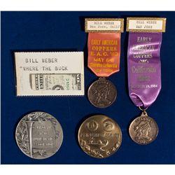 Award Medals and Ribbons CA - , - 1963,1983,1984 - Tokens