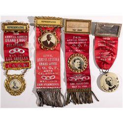 I.O.O.F. Ribbons CA - , - 1909, 1913, 1920, 1926 -