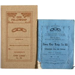 Independent Order of Odd Fellows Constitution, Laws, and Rules CA - , - 1884 -
