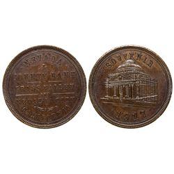 Nevada County Bank Souvenir Token CA - ,Nevada County -  -