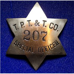 Pacific Telephone and Telegraph Co. Special Officer Badge. CA - , - c1920 - Tokens