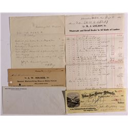 Randsburg and Johannesburg Billheads and Letterheads CA - ,Kern County - 1899-1908 - 2012aug - Gener