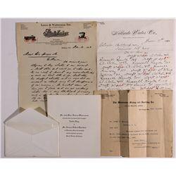 Bishop Area Letterheads CA - Bishop,Inyo County - 1890-1912 - Americana/Paper/Ephemera