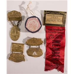 IOOF Badges and Drum Ornament CA - Central Valley, -  -