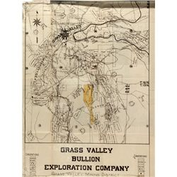 Grass Valley Bullion Exploration Company Prospectus CA - Grass Valley,Nevada County - 1919 - America