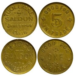 Jamestown Tokens CA - Jamestown,Tuolumne County - c1900-1920 - Tokens