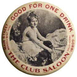 Club Saloon Mirror CA - Mokelumne Hill,Calaveras County - c1910 -